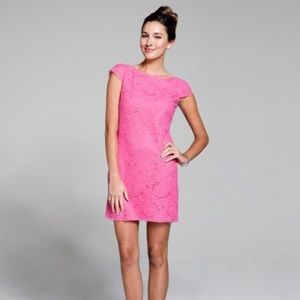 LILLY PULITZER Pink Jeanette Lace Dress